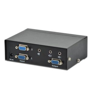 DIGITUS VGA switch 2PCs, 1 Display